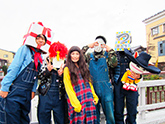 写真左からギフト☆矢野、カリフォルニア米、トミタ栞、黒幕、浪人生つ、白井ヴィンセント。