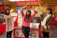 タワレコ渋谷1F正面入り口のレコメンドコーナー。Negicco新作リリース時にはここもネギ一色に?
