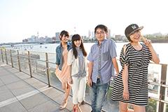 写真左からKaede、Nao☆、connie、Megu。