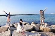 写真左からKaede、Nao☆、Megu。