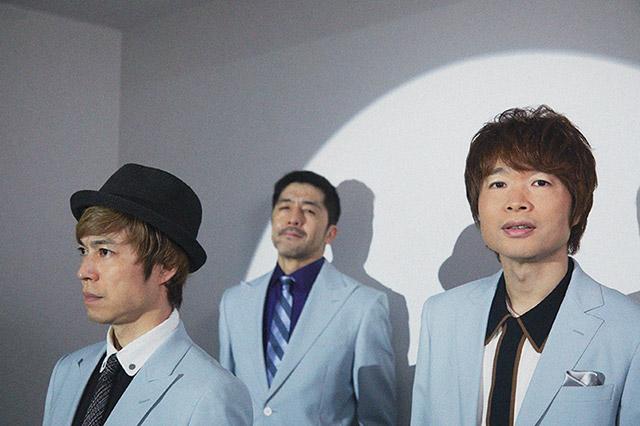 左からNARGO(Tp)、谷中敦(Baritone Sax)、茂木欣一(Dr)。