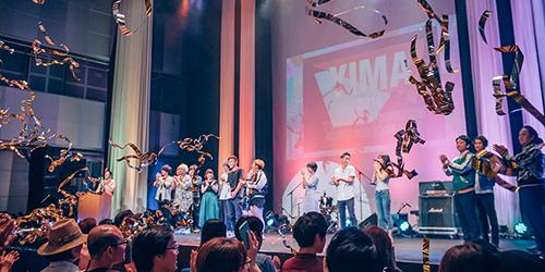 「YOKOSUKA INNOVATION MUSIC AUDITION 2018」優勝者発表の様子。