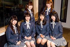 インタビューに参加したメンバー。左上から時計回りに掛川渚、神木乃栞里、森崎りな、杉山風花、石川凜果、真城まゆ。