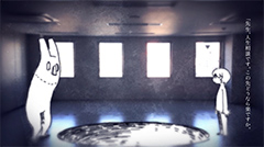 「ヒッチコック」MVのワンシーン。