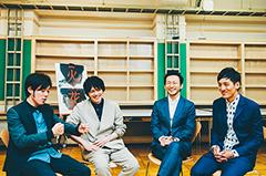 左から井下好井・好井、林遣都、波岡一喜、とろサーモン村田。