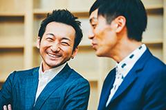 左から波岡一喜、とろサーモン村田。