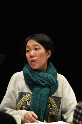 第18回AAF戯曲賞 公開最終審査会の様子。篠田千明。