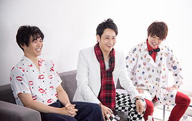 東京やんちゃボーイズのメンバー。左から橋谷拓玖、南翔太、松浦正太郎。