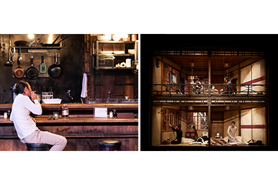 現代演劇シリーズ─タニノクロウ演出「ダークマスター」「地獄谷温泉 無明ノ宿」 左より©Yurina Niihara / 写真提供:国際交流基金、©KOS-CREA / 写真提供:国際交流基金
