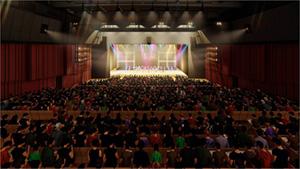 COOL JAPAN PARK OSAKA WWホール 内部のイメージ。