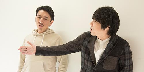 左から岩井秀人、三浦大輔。