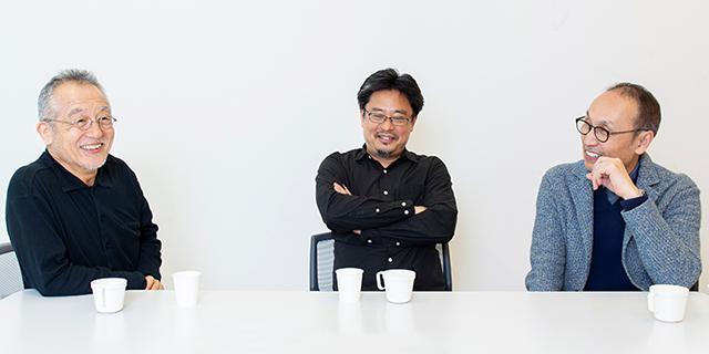 左から串田和美、松村武、大森博史。