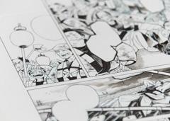 火消したちを描いた紗久楽さわの原画。