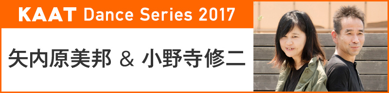 KAAT Dance Series 2017 矢内原美邦 & 小野寺修二