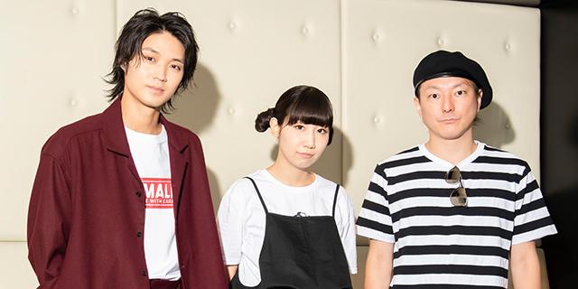 左から磯村勇斗、根本宗子、松隈ケンタ。