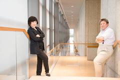左から宮田慶子、三崎力。