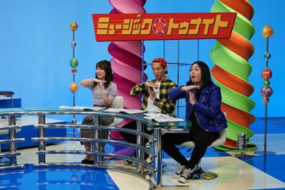 左から髙橋優実、加賀翔(かが屋)、賀屋壮也(かが屋)。