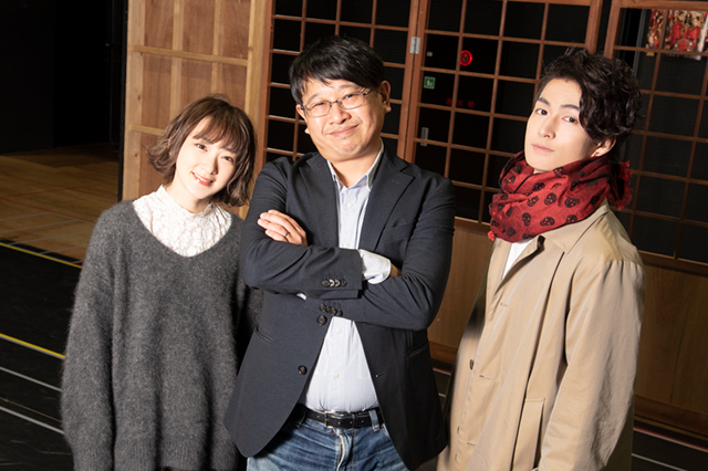 左から生駒里奈、毛利亘宏、松田凌。