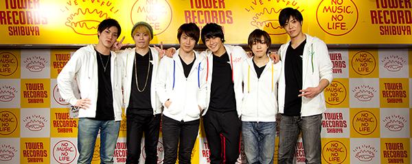 左から桐矢彰吏、古川龍慶、鎌苅健太、猪野広樹、鈴木祐士郎、鷹松宏一。