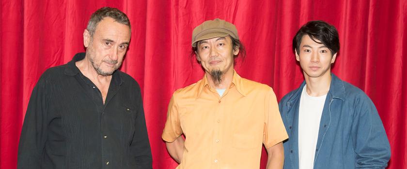 左からジョルジオ・バルベリオ・コルセッティ、近藤良平、矢崎広。
