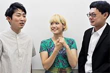 左から石田明、サリngROCK、宮戸洋行。